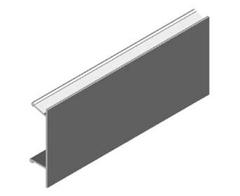 Krycí profil hornej závesnej koľajnice AL, 5 m - striebro