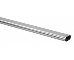 Vešiaková tyč oválna , 30 mm, AL striebro