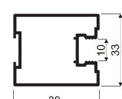 Profil zvislý AL DORAL  YELLOW , 39 x 33 x 2700 mm - strieborná - ks