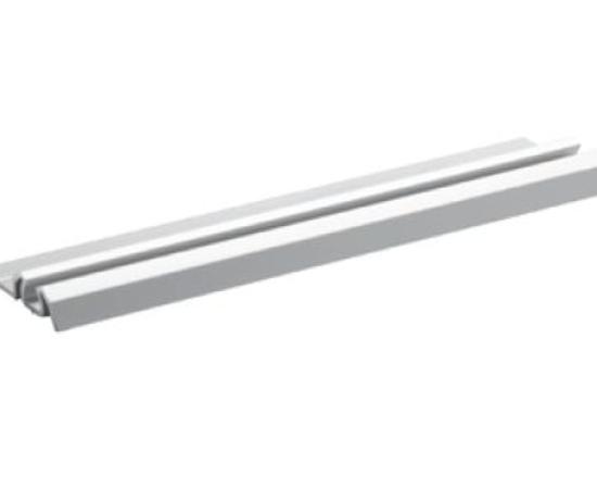 Koľajnica dolná jednostopová AL YELLOW , 38,4 x 8 x 5000 mm - strieborná - ks