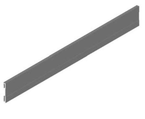 Krycí profil dolnej koľajnice dvojstopovej AL YELLOW , 5000 mm - strieborná št. - ks