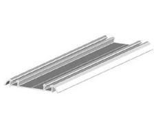 Koľajnica dolná dvojstopová AL CORAL , 49,5 x 7 x 6000 mm - biela - ks
