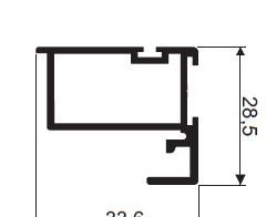 Profil zvislý AL MALTA , 33,6 x 28,5 x 5300 mm - strieborná - ks